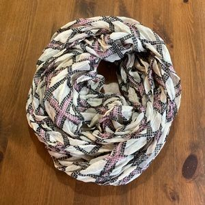 Black/Purple/Cream Infinity Scarf